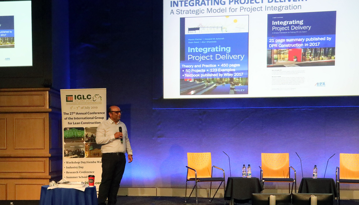 DPR's Atul Khanzode presents at IGLC.