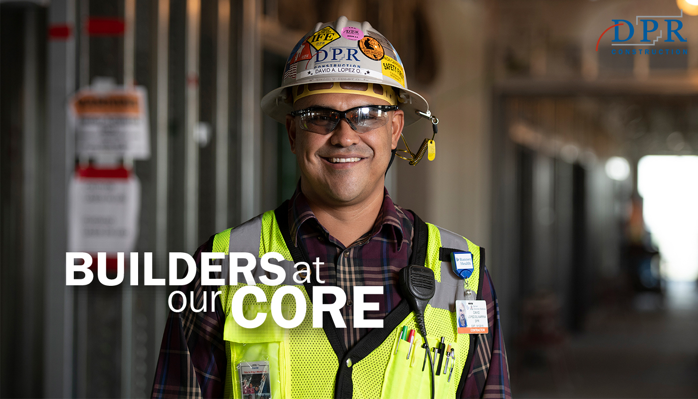 David Lopez pictured on a DPR jobsite.
