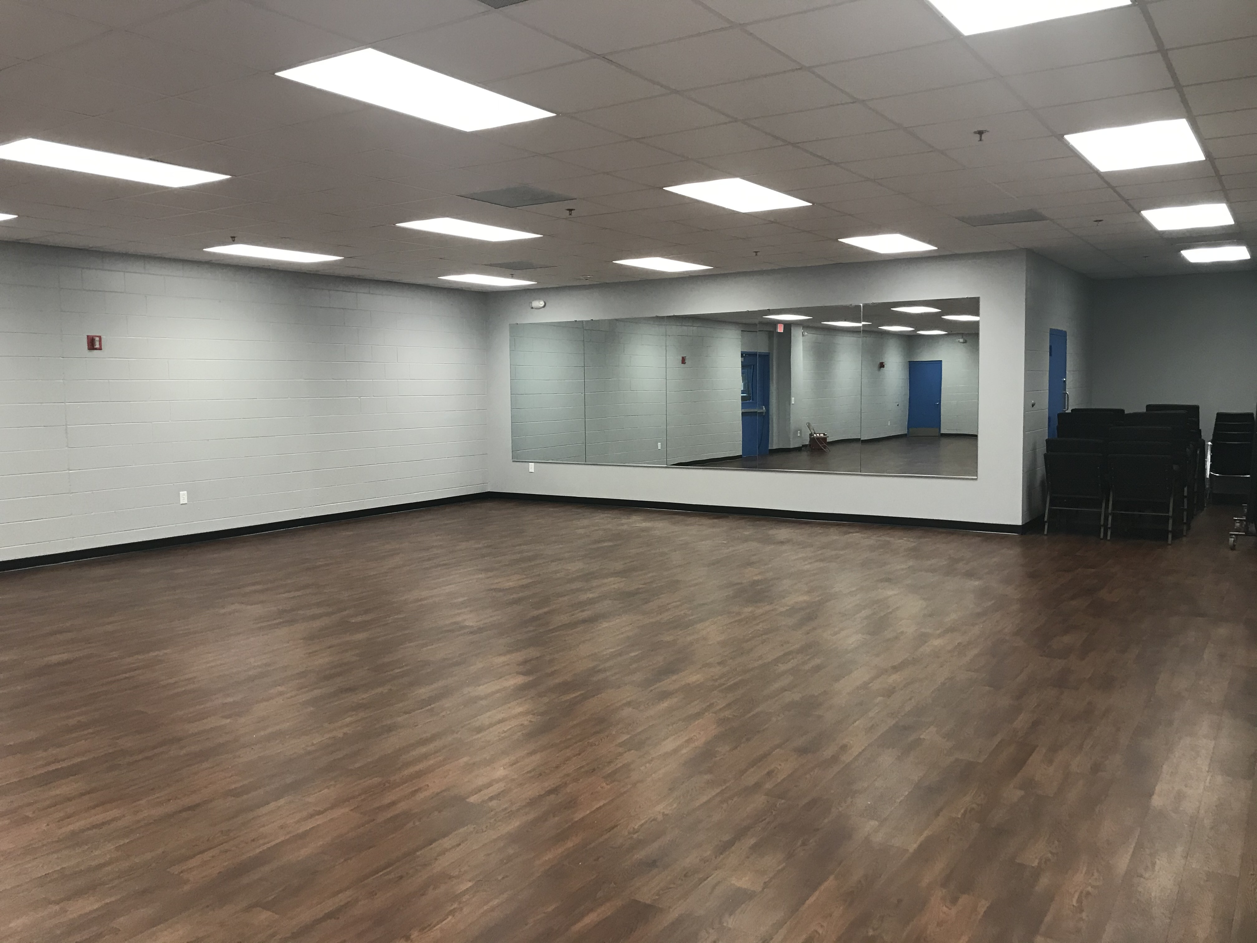 Interior shot of renovated recreational room at the Boys & Girls Clubs of Tampa Bay.