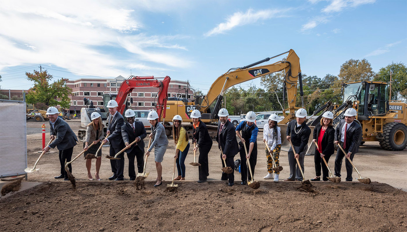 DPR broke ground on the new physical sciences building earlier this month.