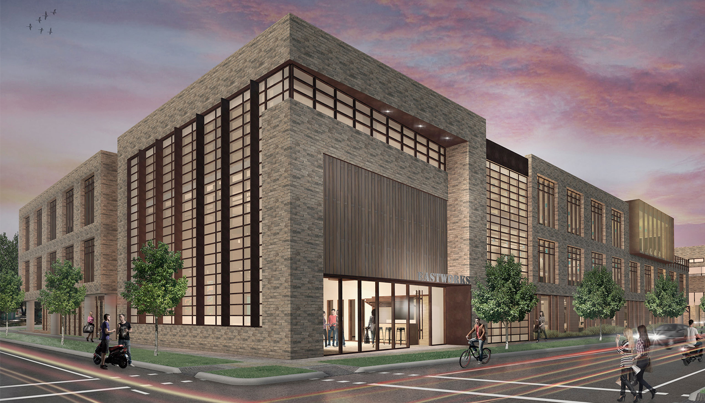 Exterior rendering of The Foundry.
