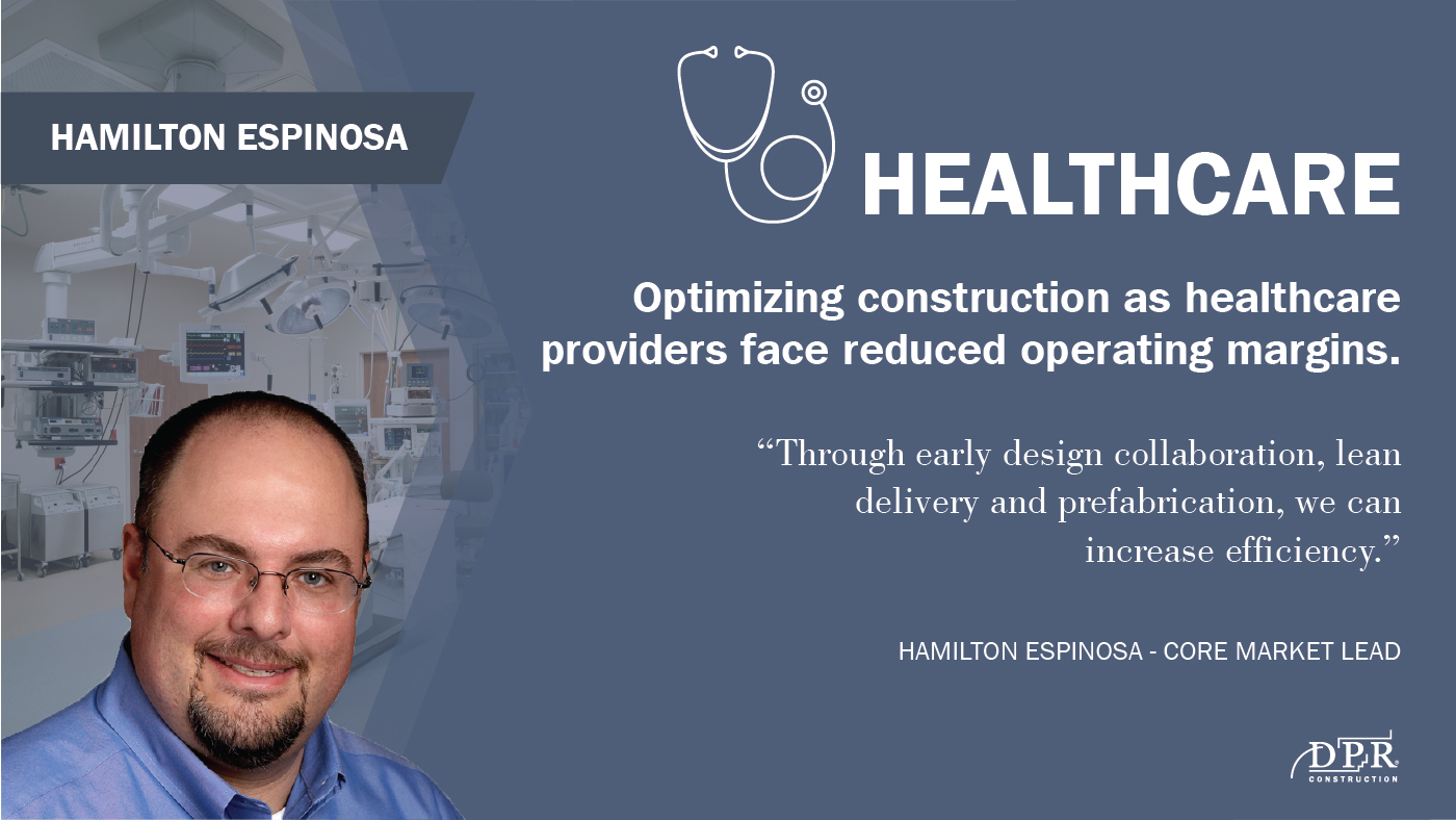 Hamilton Espinosa thinks contractors will adjust their delivery to help provide value for customers facing thin margins.