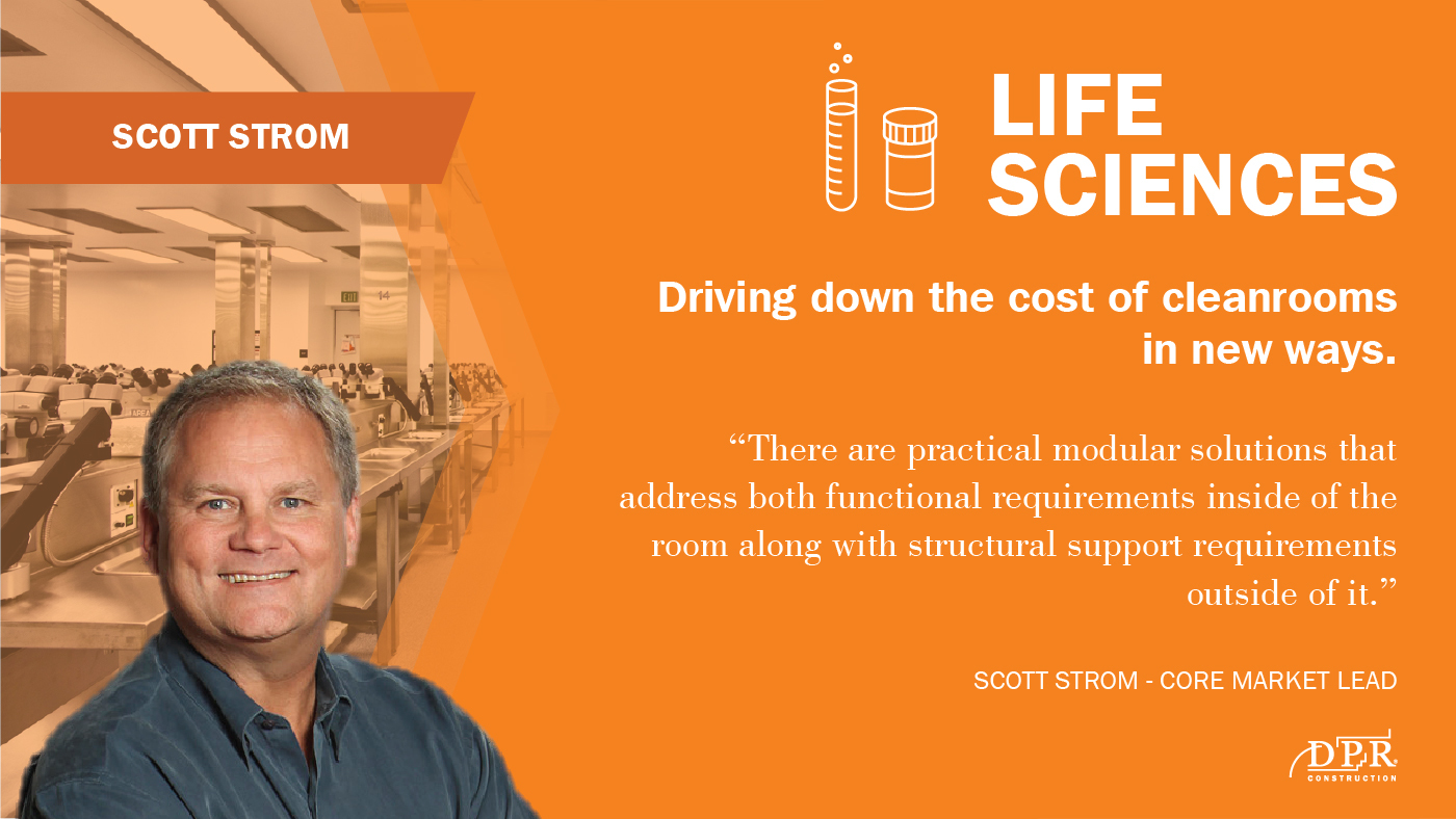 Scott Strom sees new ways to lower costs of cleanrooms.