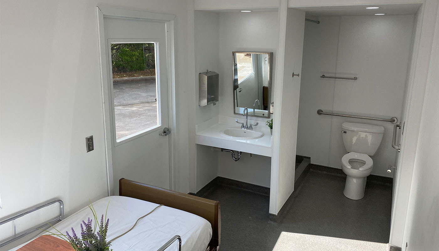Photo of modular patient room