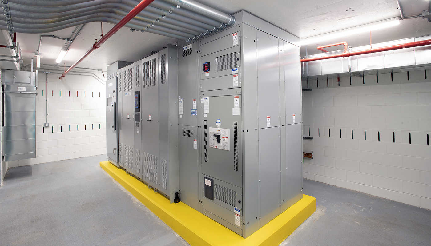 A new indoor electrical substation.