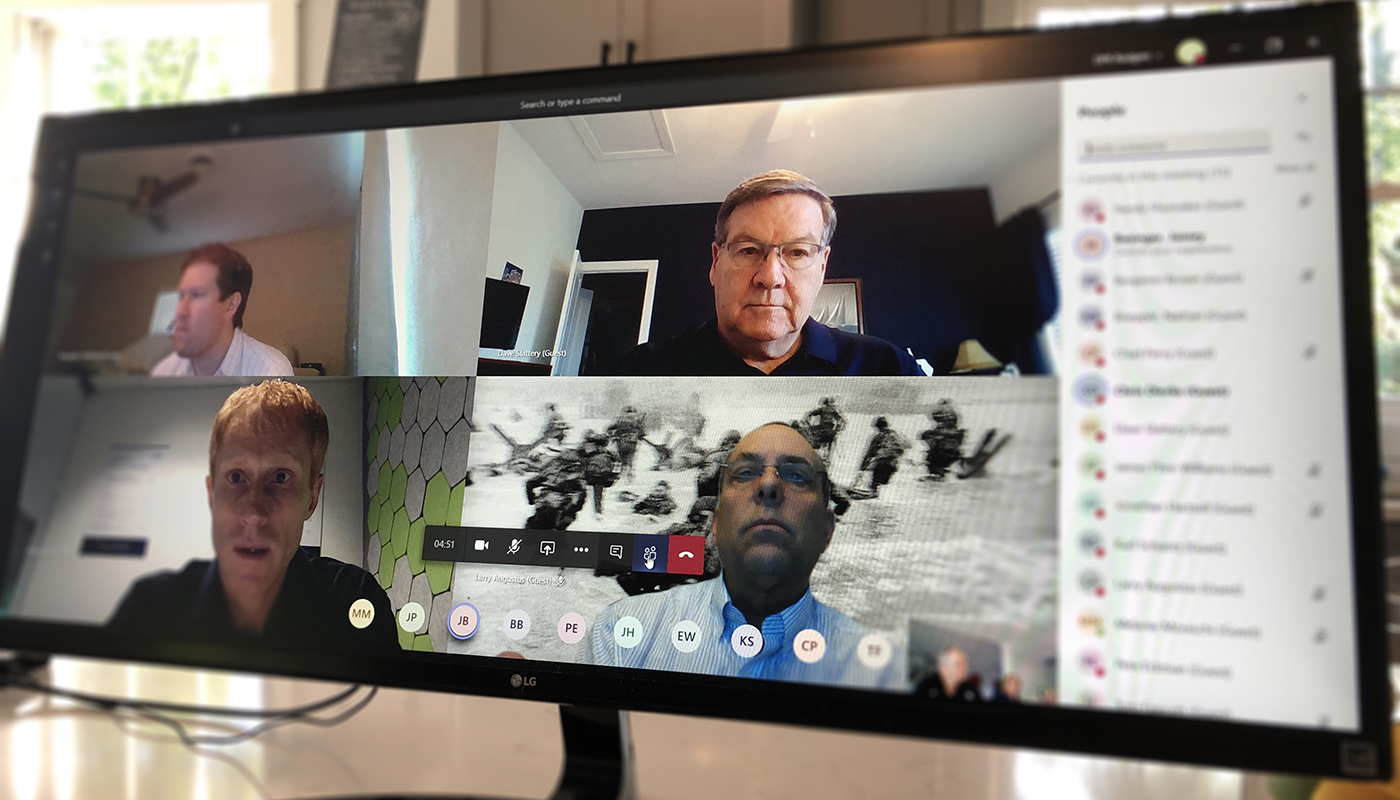 A video conferencing tool in use among big room partners