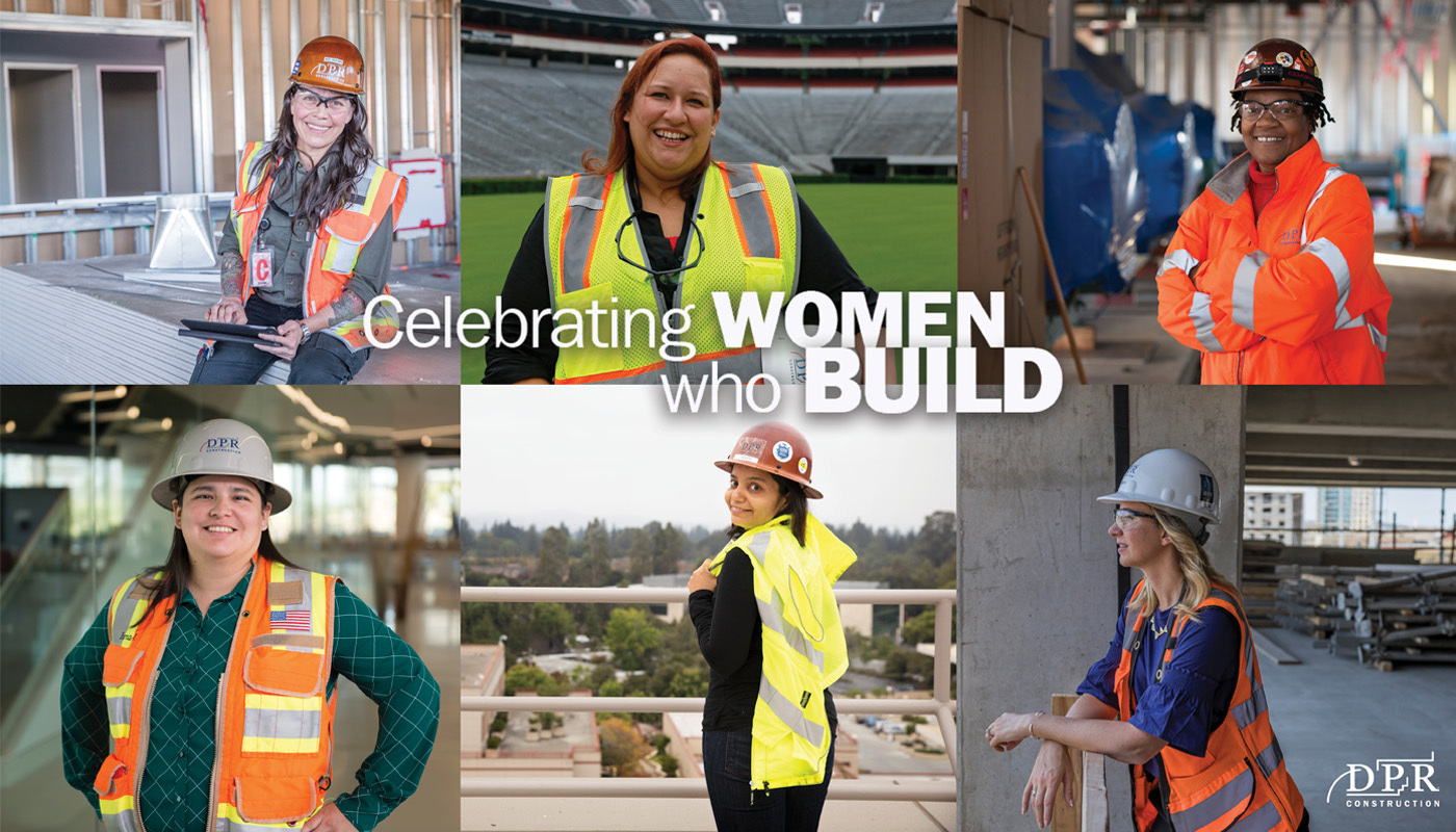 Women who build collage.