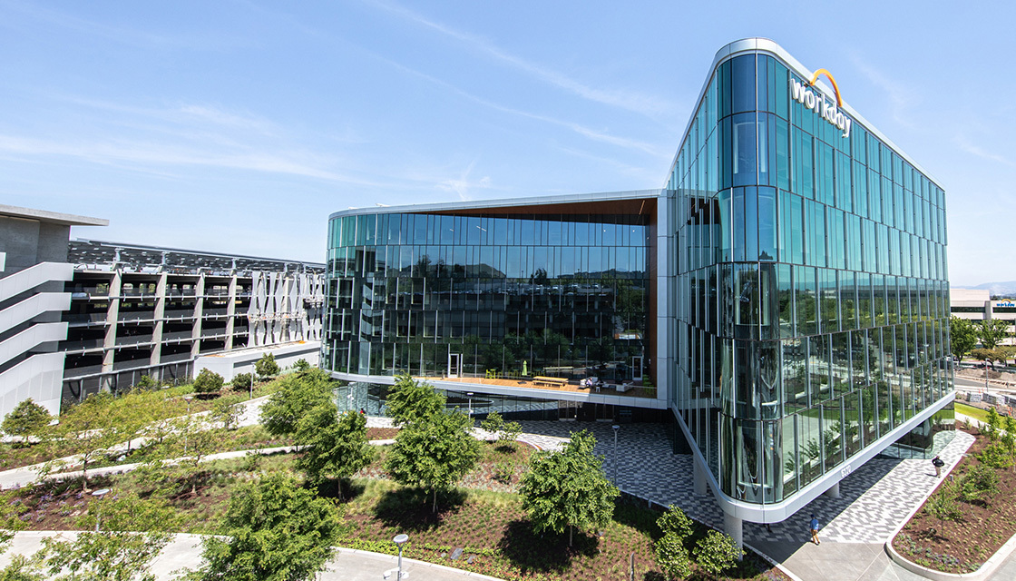 The new Workday headquarters in Pleasanton, California.