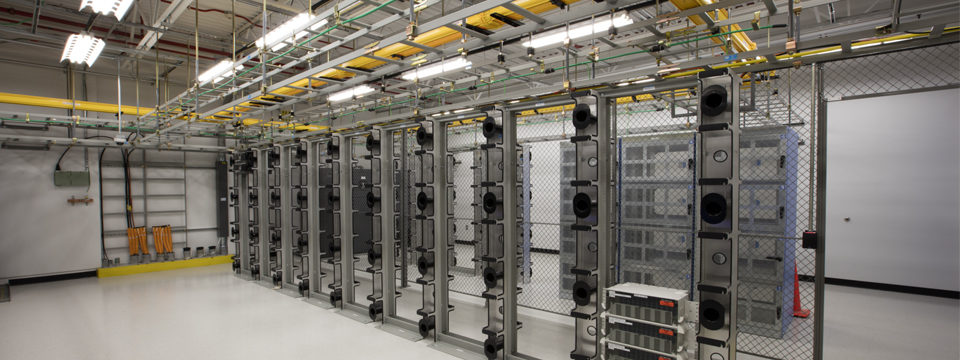 Digital Realty data center interior. Links through to a story about the project.