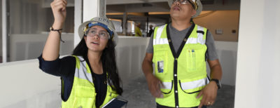 A DPR Build Up intern on her job site