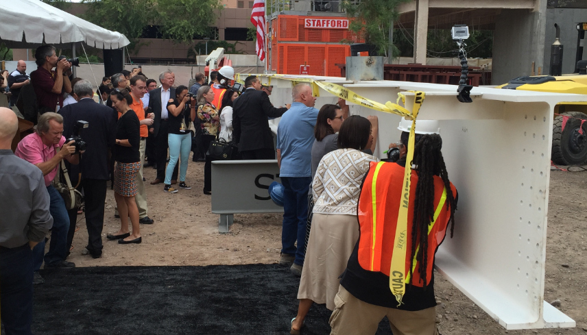 ASU Community Signs Beam