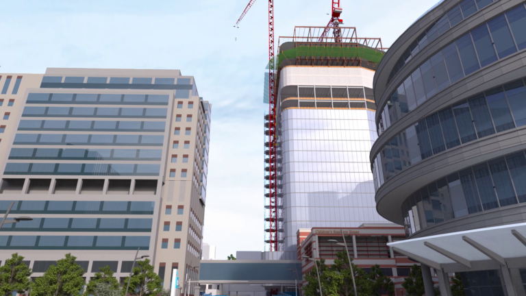 Virtual construction building exterior