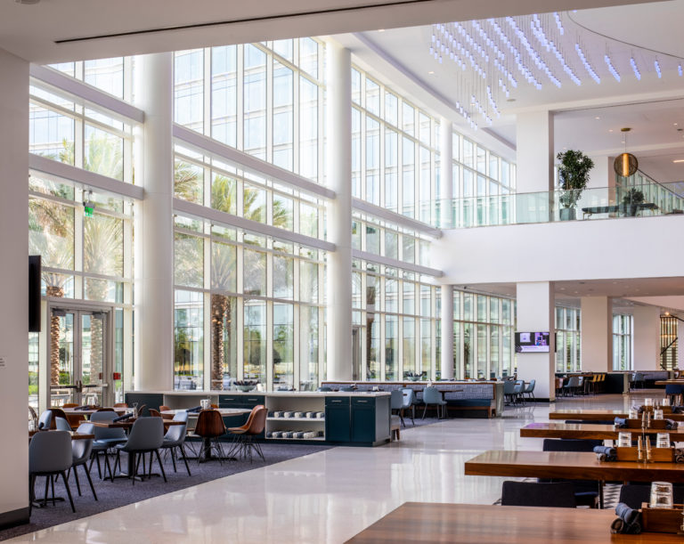Cafeteria area at the KPMG Lake House