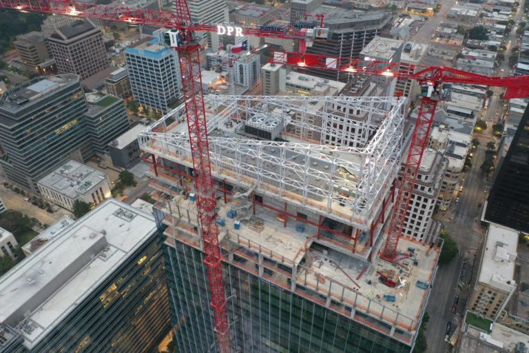 aerial building under construction view