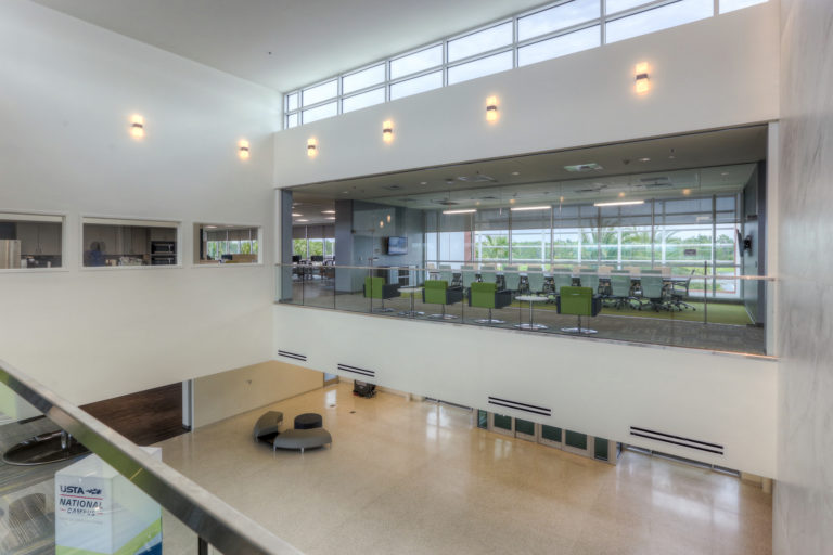 Interior US Tennis Association building