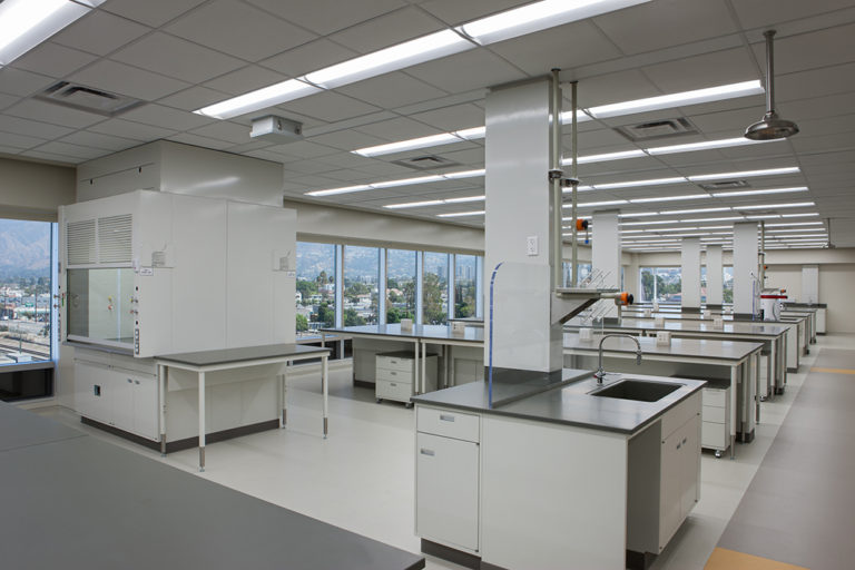 Interior lab space and work areas