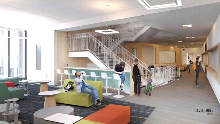 Rendering of inside facility