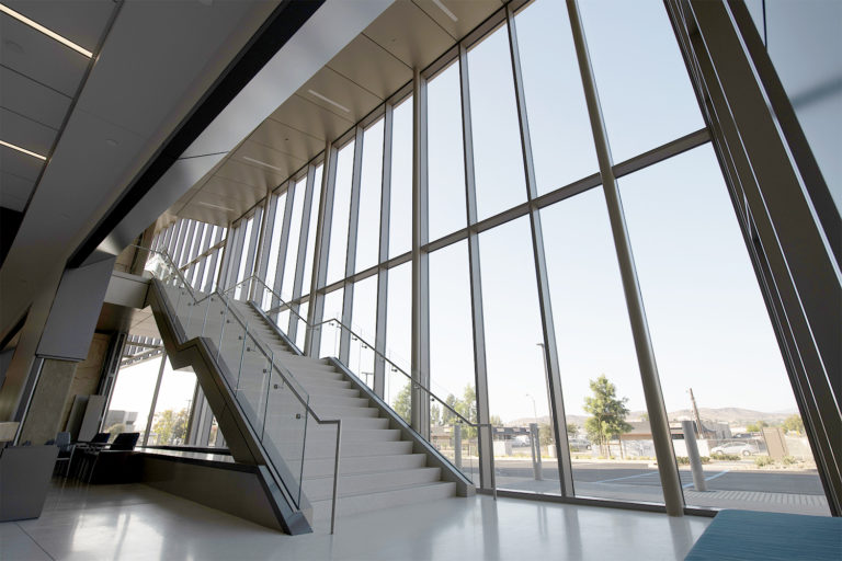 Staircase in medical office building