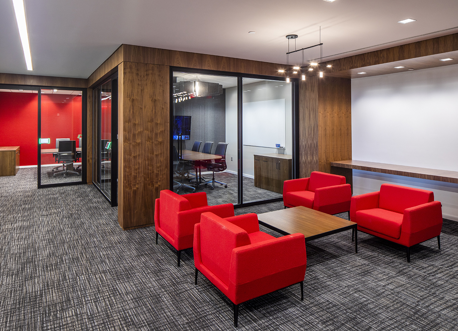 conference room and seating area