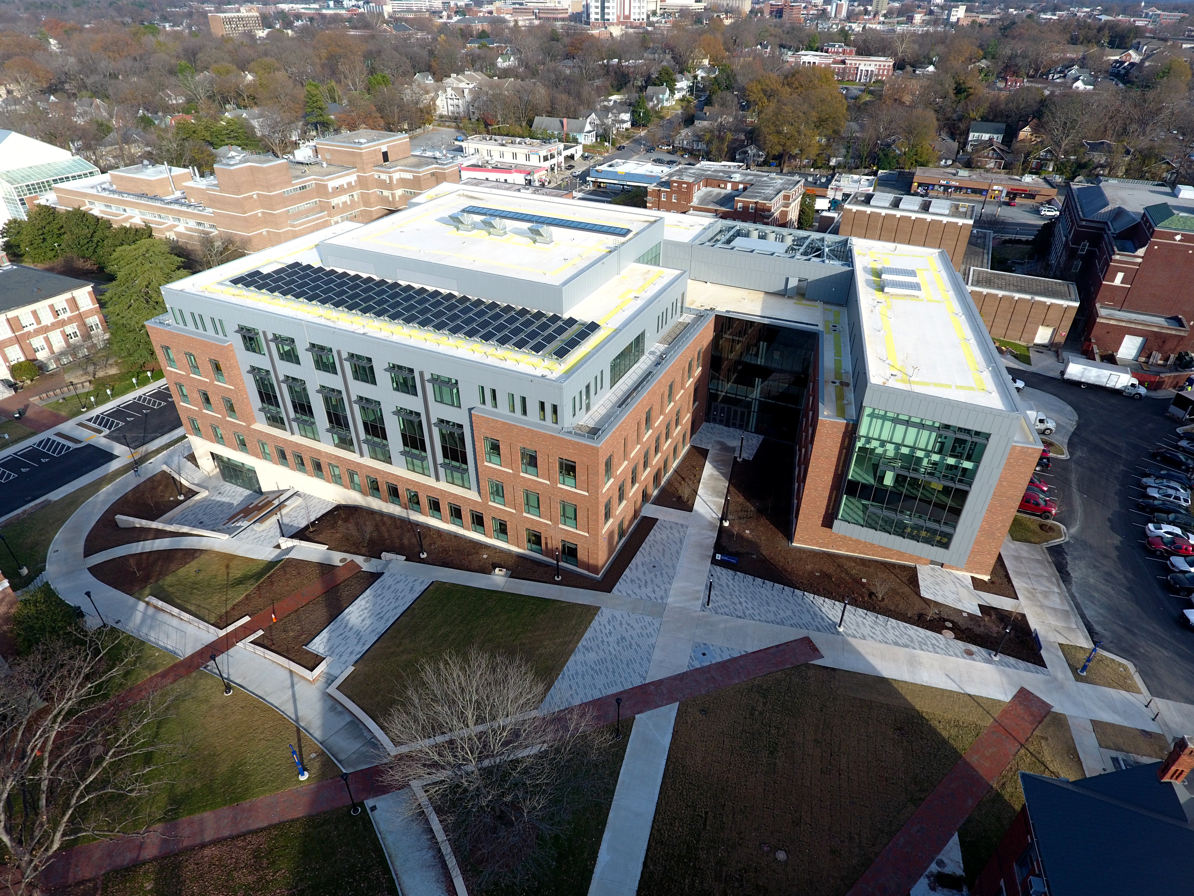 Aerial view of the Greensboro instructional building.