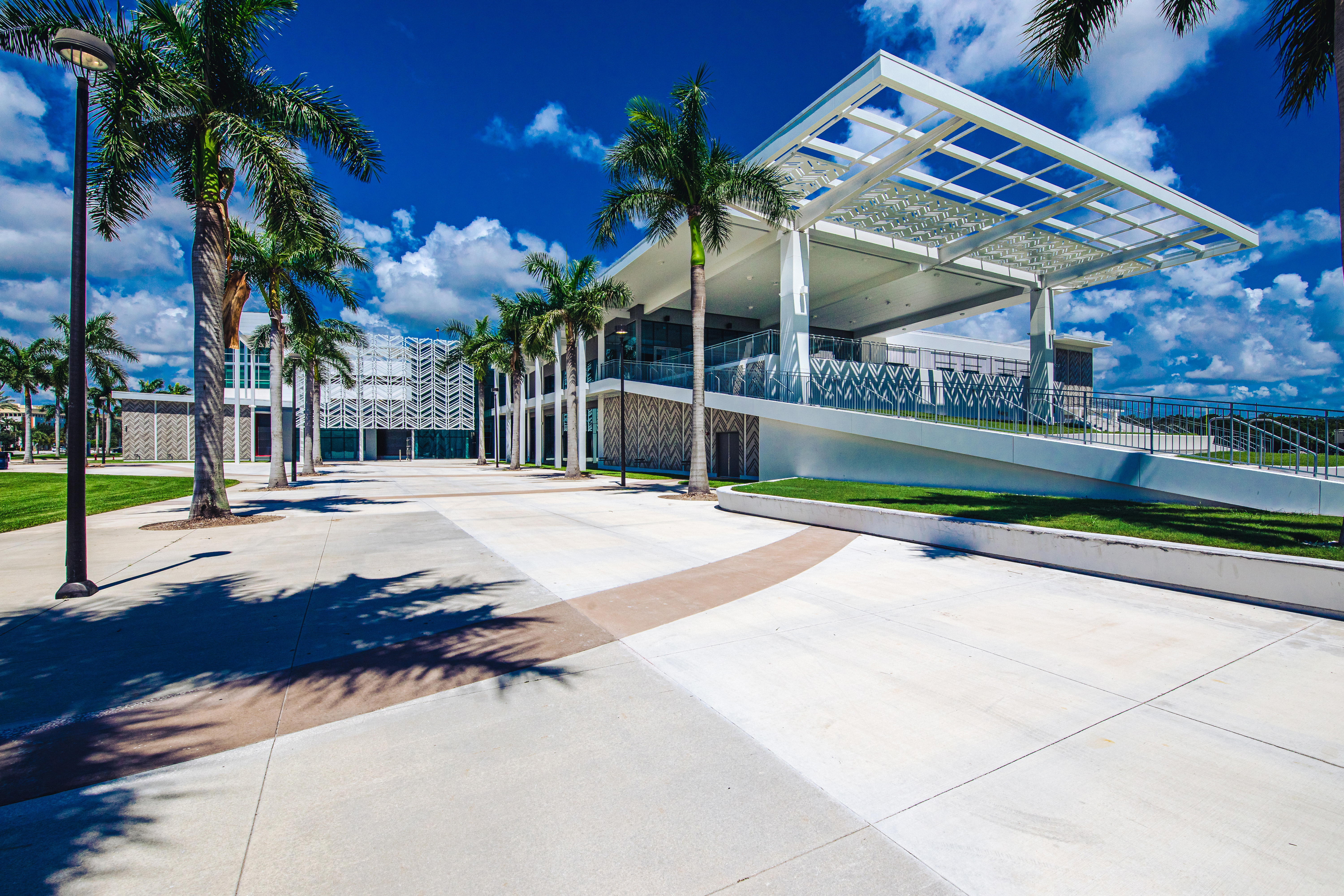 exterior of FAU complex building