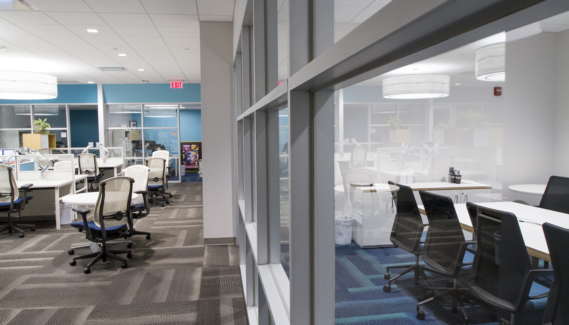 interior of office space