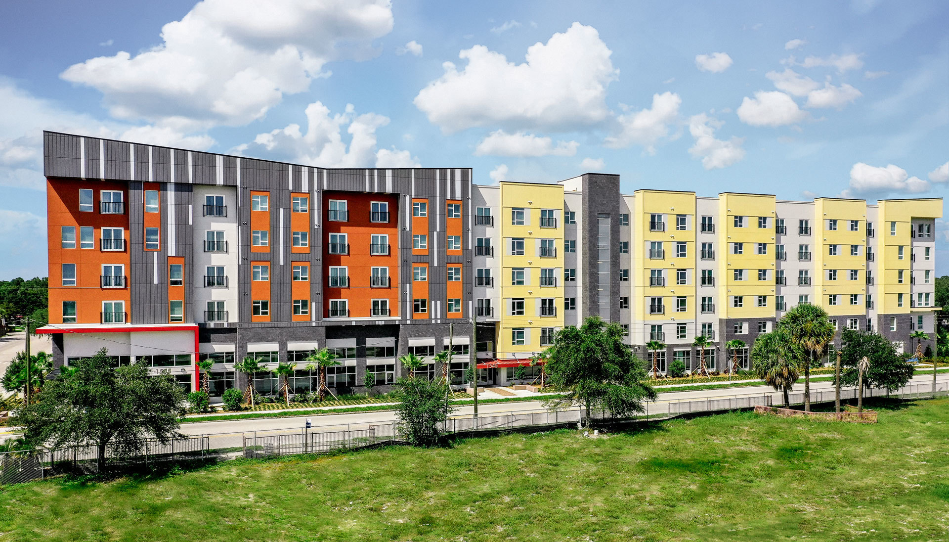 render of two finished residence buildings