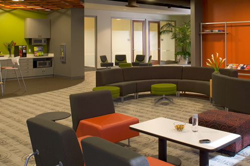 Interior lobby and seating area