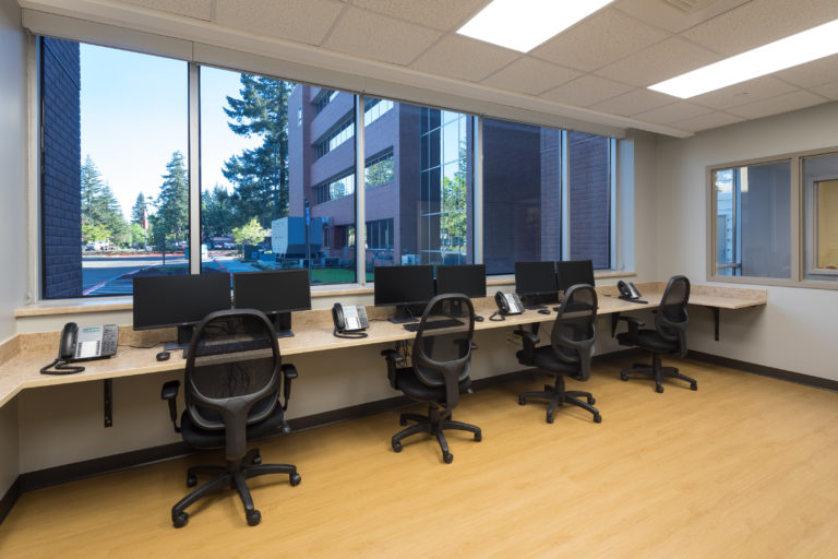 interior of office with desks