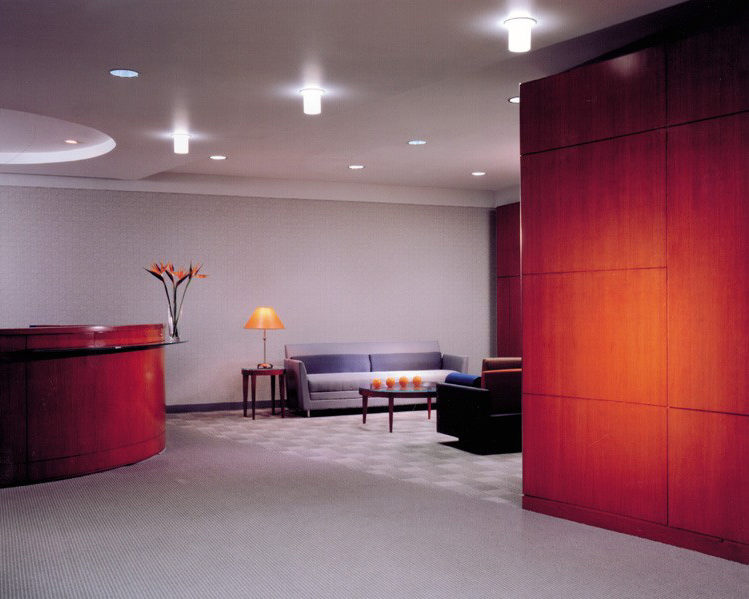 lobby interior with dim lighting