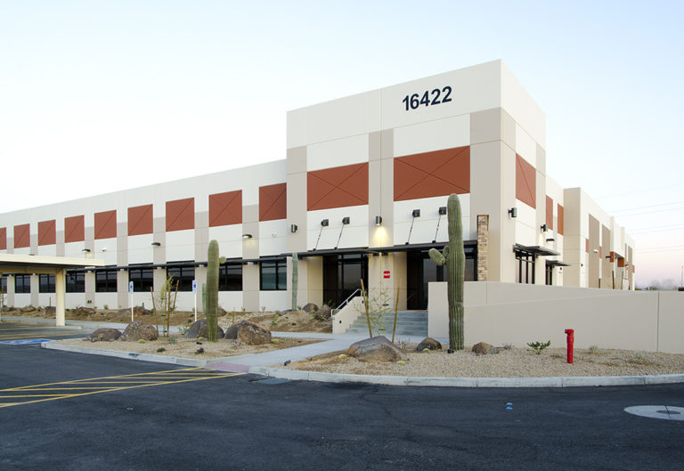 Exterior of data center building
